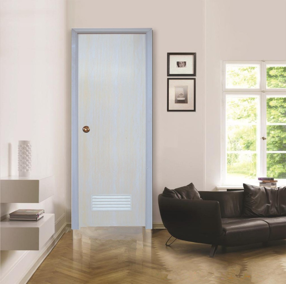 Plain White Interior Doors - Wk p002 white plain pvc door for interior prices plastic toilet bathroom door cheap price