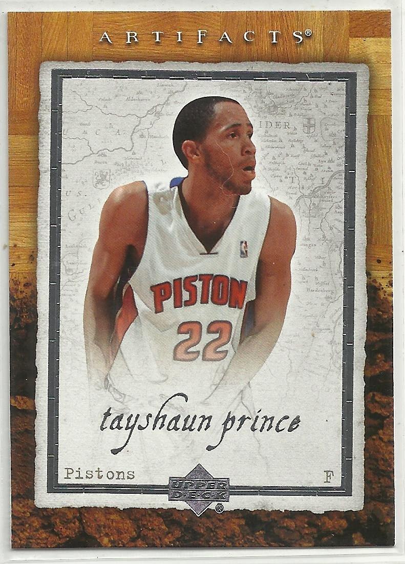 Tayshaun Prince 2007-08 Upper Deck Artifacts NBA Basketball Card #26 Detroit Pistons