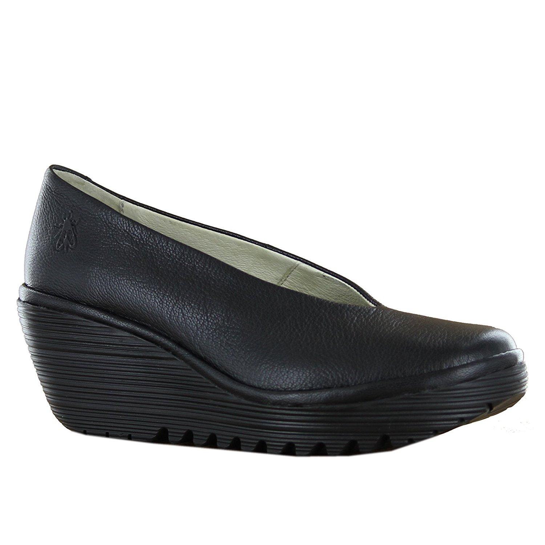 86625f8b8d34d Get Quotations · Fly London Yaz Black Leather Womens Shoes Size 39 EU