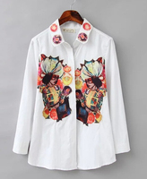 EY0488B Ladies clothing manufacturer high quality 2015 new design chiffon ladies blouse