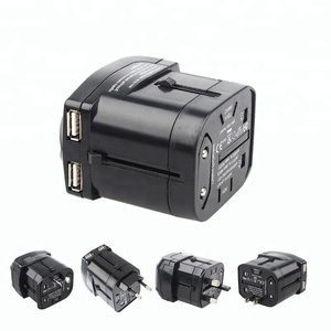 High Quality Worldwide Travel Universal Power Plug Adapter Socket Converter With Dual USB Charger 5V 2.1A AU/US/UK/EU