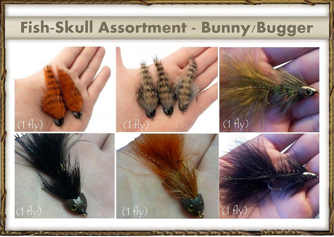 Next Generation Streamer Flies - FISH-SKULL Assortment - BUNNY/BUGGER (6 flies)