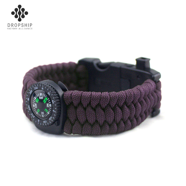 Dropship DS-HG1001 Paracord Bracelet Survival Gear Kit, Camping and Hiking Gear