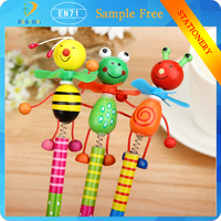 2017 trending products Creative Wooden Cute Cartoon Children stationery Gift kids Study Writing Drawing pencil