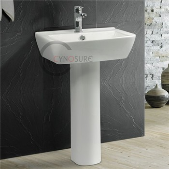 CY4123 Hot Sell Ceramic Pedestal Sink / New Model Hand Wash Basin