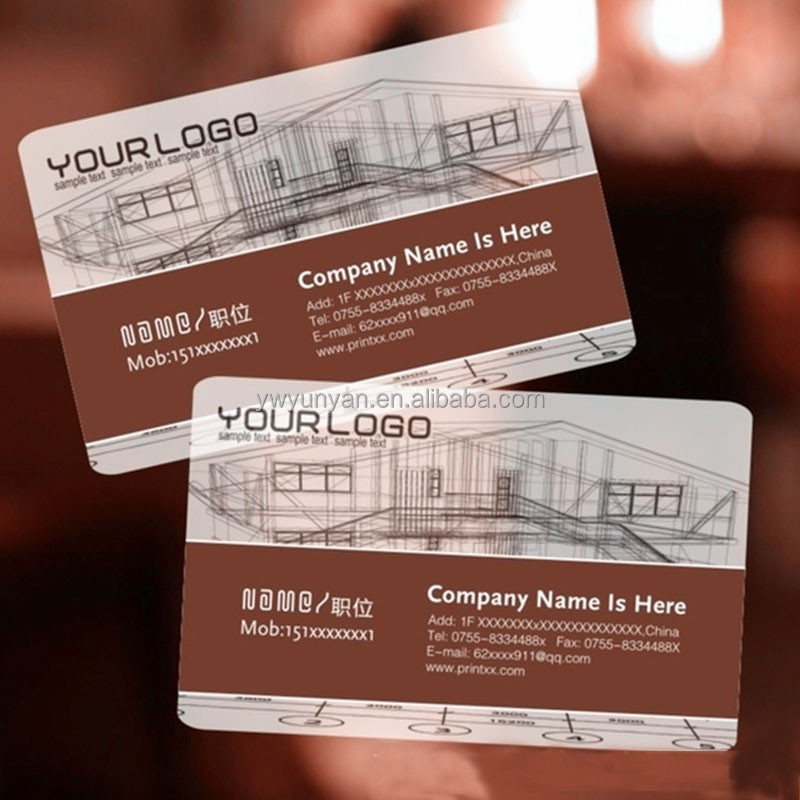 Customized Pvc Clear Plastic Business Card - Buy Business Card ...