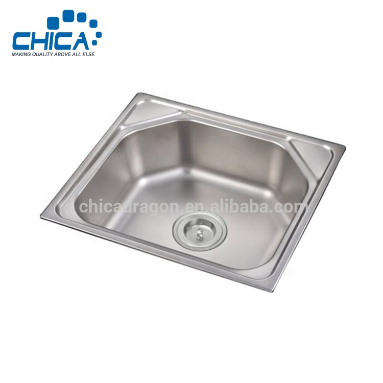 550x430mm Russia Luxurious Single Bowl Stainless Steel 304 Deep Drawn Press  Topmount Kitchen Sink - Buy Kitchen Sink,Press Sink,Single Bowl Sink ...