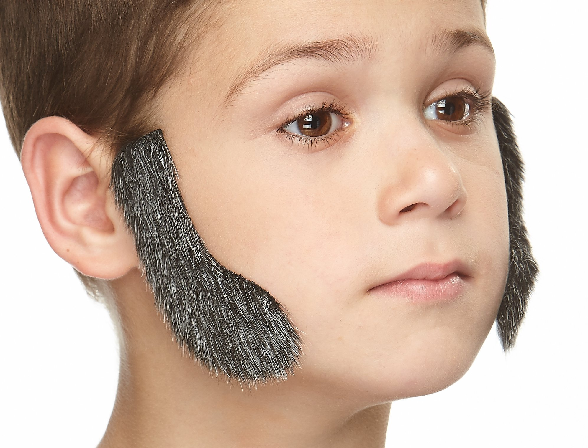 Mustaches Realistic L Shaped Fake Mutton Chops Sideburns