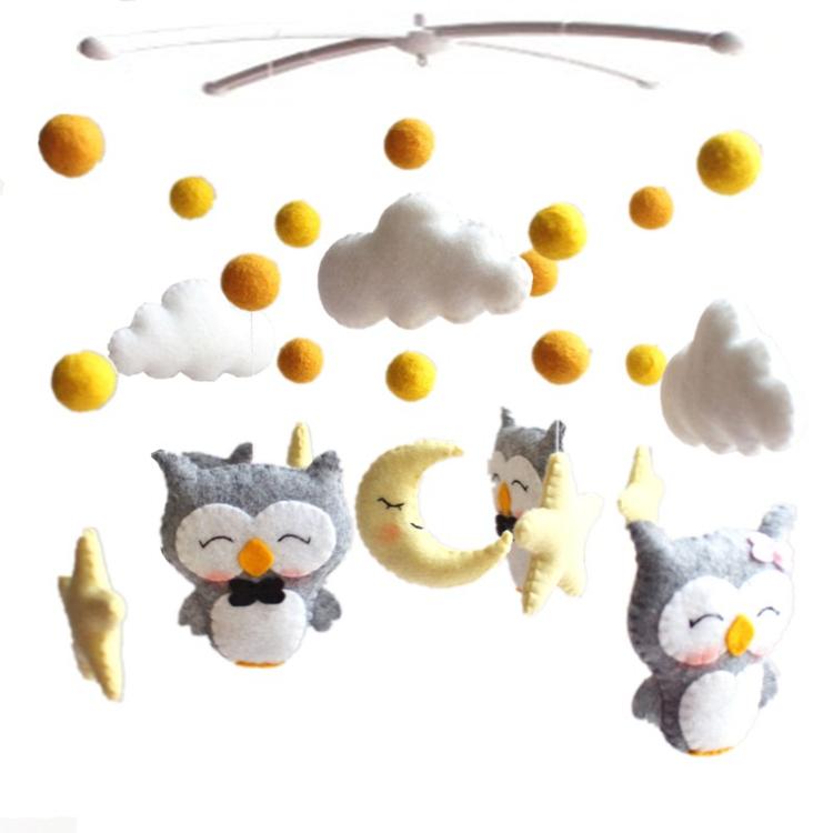 Lovely Hot Sale Handmade Toys Custom felt Baby Sleep Mobile