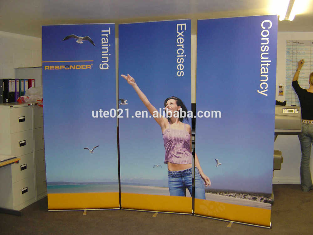 Triple roll up banner stand strong aluminum roll up stand for Stand roll up
