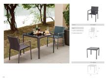 barato hecho a mano patio de la rota de mimbre mesa y silla tf