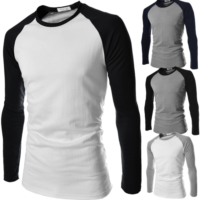 Black And White Long Sleeve T Shirt … 2d12428c5ee