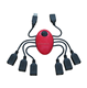 New design spider shape more than 4 Ports USB hub