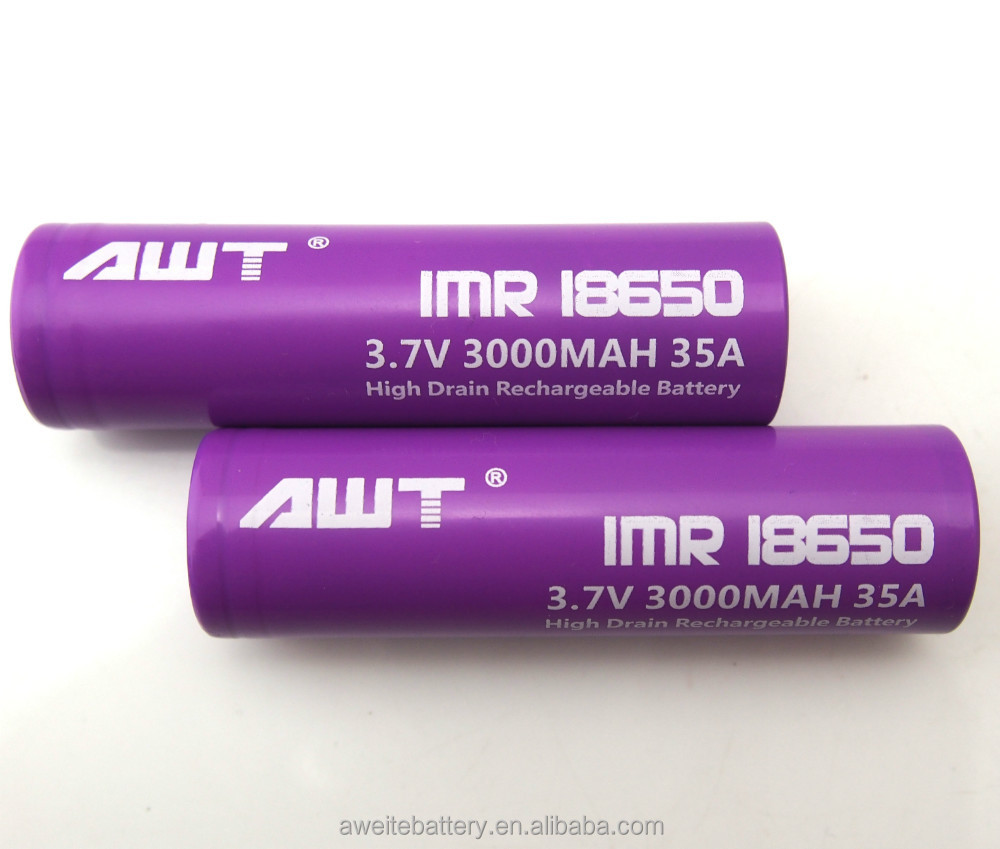 Hot Sell 18650 Li-ion Battery 3.7v 3000mah Awt 18650 Battery ...