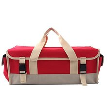 FREE SAMPLE Portable Collapsible Trunk Organizer For Car SUV Truck in Red Tool bag Hard Base Tool Storage