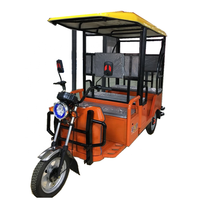 Best cheap electric tricycle for adult / three wheels passenger electric tricycle with 6 seats