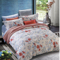 Nantong textile bedding set custom printed cotton Queen/king size duvet cover sets