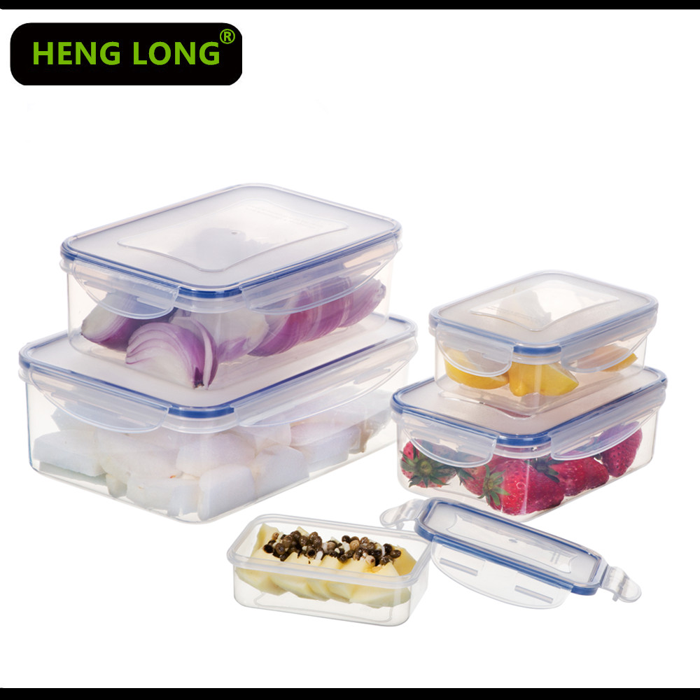 7 IN 1Rectangular Airtight Plastic Food Storage Container Set