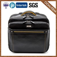 8 Years Manufacturer Hot Product Genuine Leather Comfortable Design Travel Luggage Trolley Bags