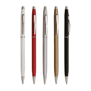 Reliabo Personalized Thin Style Custom Logo Advertising Hotel Metal Ball Pens