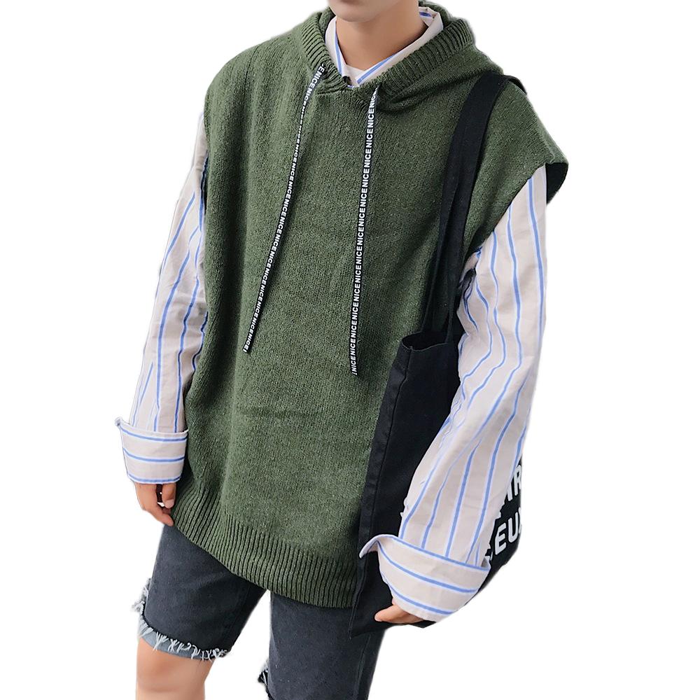 cool fashion knitwear men style loose sweater hooded custom sweaters