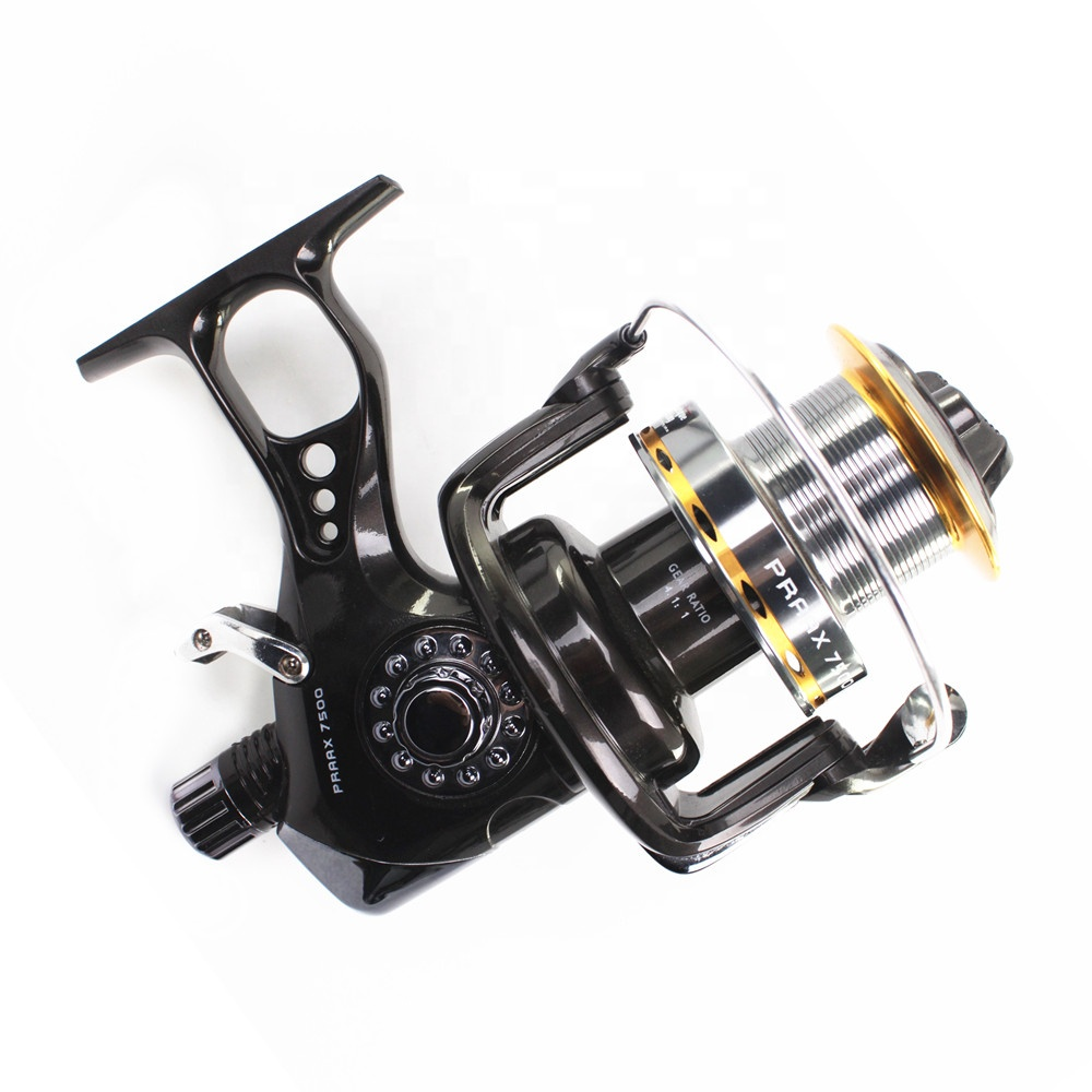 Promotion 10+1 BB OEM saltwater long cast fishing carp surfcasting surf casting reel, 7500 is dark gray with gunsmoke gold color spool