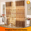 Best selling products china supplier european luxury water-soluble embroidery decorative brown color window curtain