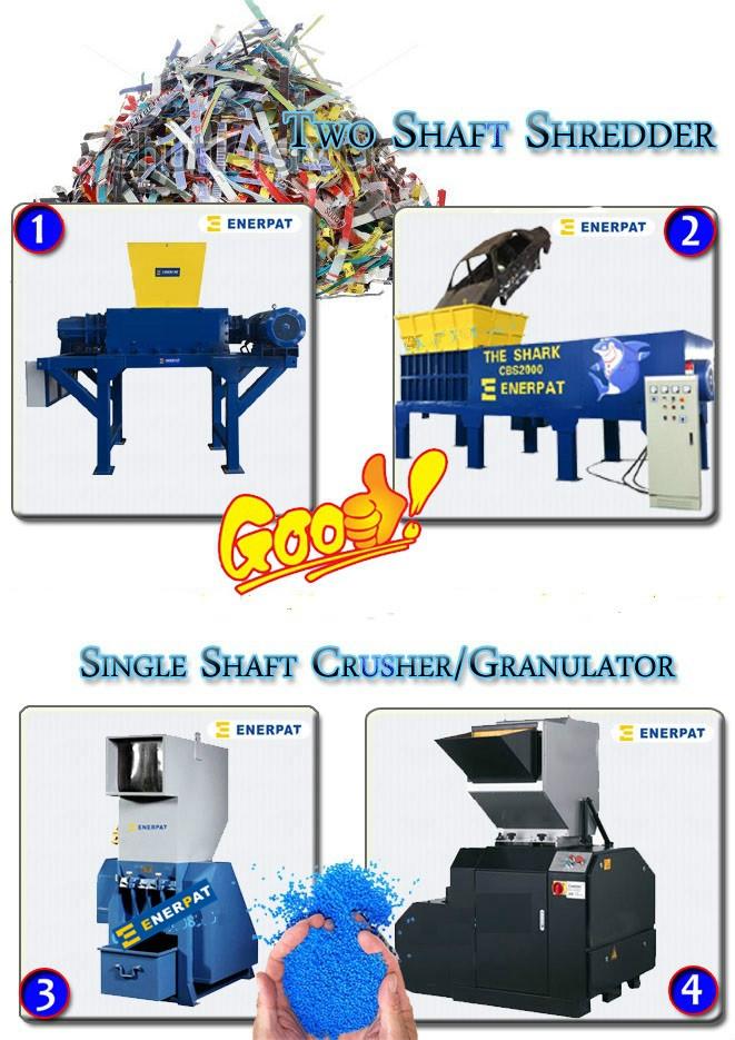 플라스틱 밀링 기계 및 single 축 슈레더 대 한 골 상자/Business cards/섬유 관/보드지