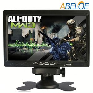 4/ 5 wire resistive touch 7 inch touch screen led lcd tv monitor with dc 12v