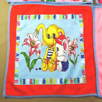 Cute little elephant printed polyester towel