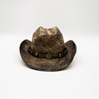 Western Cowboy Straw Hat Made of Raffia Straw Support Customization