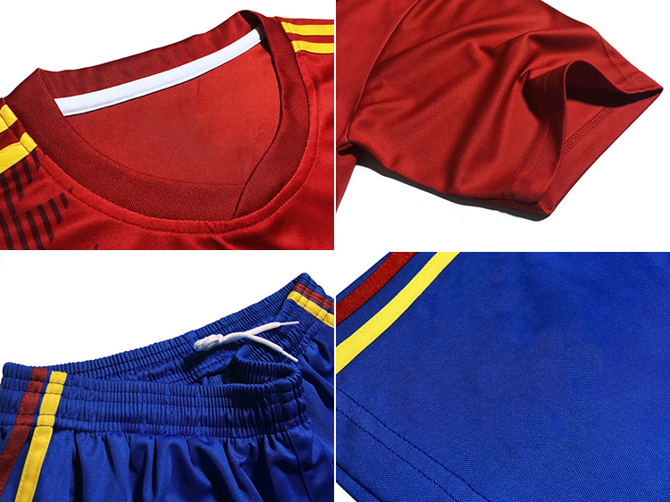 Wholesale top thailand quality customized cheap soccer sports wear RED football jersey