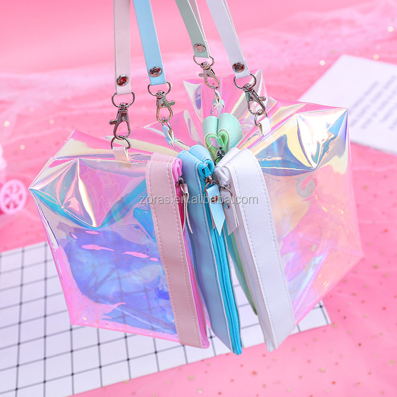 2020 Newest Design Holographic Pvc  Tote Bag  For Daily Necessities