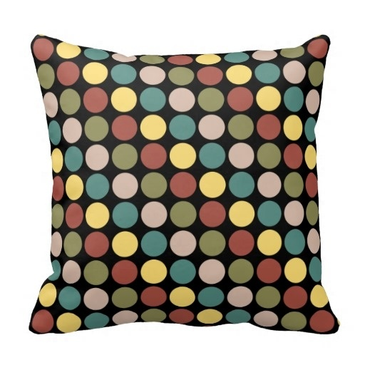 Fit Classy Polka Dot Throw Pillow Case (Size: 20