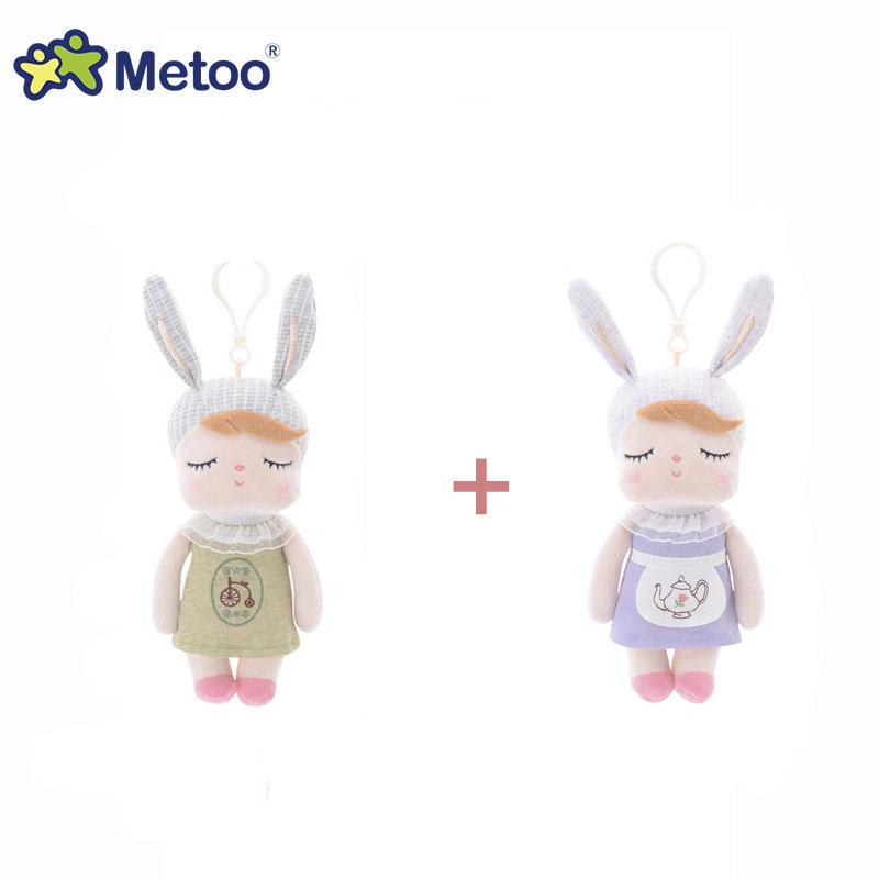 2 шт., милые мягкие куклы для маленьких девочек, детские милые игрушечные уши с кроликом, подарки для новорожденных, куклы для сна, Metoo(Китай)