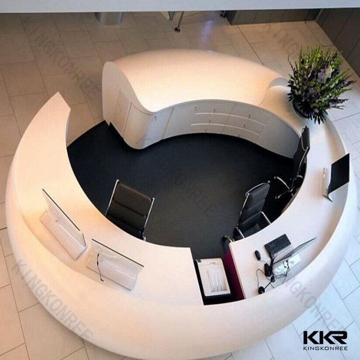 white color round reception desk curved reception counter modern rh alibaba com round reception desk cad block round reception desk design