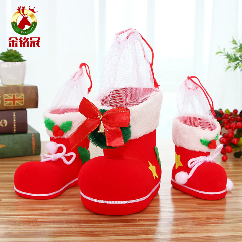 Christmas Tree Decoration Hanging Ornaments Small Xmas Candy Boots Christmas Gift