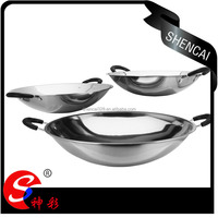 2016 non stick cookware frying pan/ stainless steel cooking pan with two handles