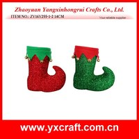 Christmas decoration (ZY16Y255-1-2 14CM) christmas funny boot, popular holiday christmas decoration