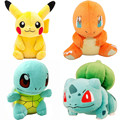 13cm 15cm Pikachu Bulbasaur Charmander Squirtle Pokeball Plush Toy Figures Toys Banpresto climb Soft Stuffed Anime