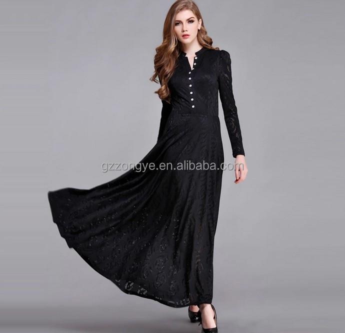 maxi dress zwart