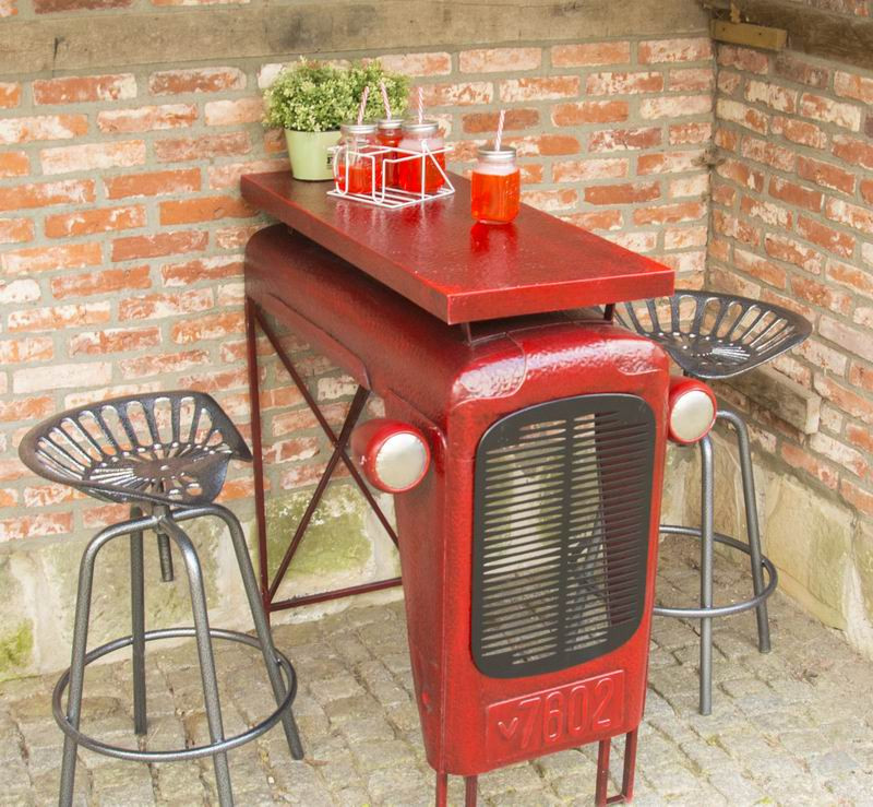 Antique Tractor Furniture : Bar furniture tractor table metal industrial vintage