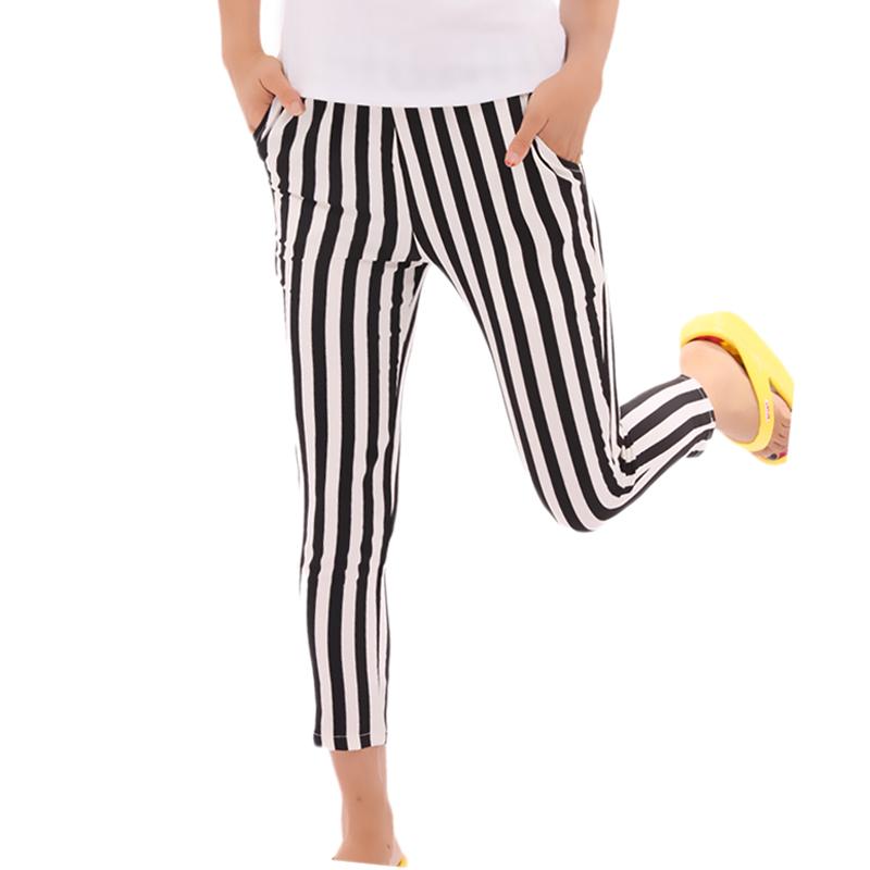 Женщины шифон прорезиненная тесьма на поясе полоска брюки брюки приходят прямой лежа классические брюки женщины одежда ho667392