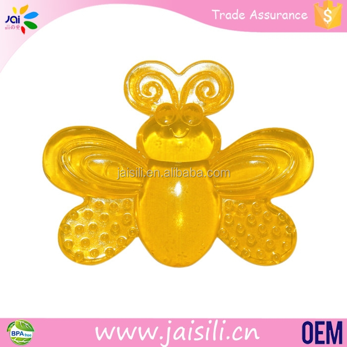 Cute Baby bpa free EVA water bee shape teether