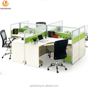 classic green MDF office desk workstations modular design