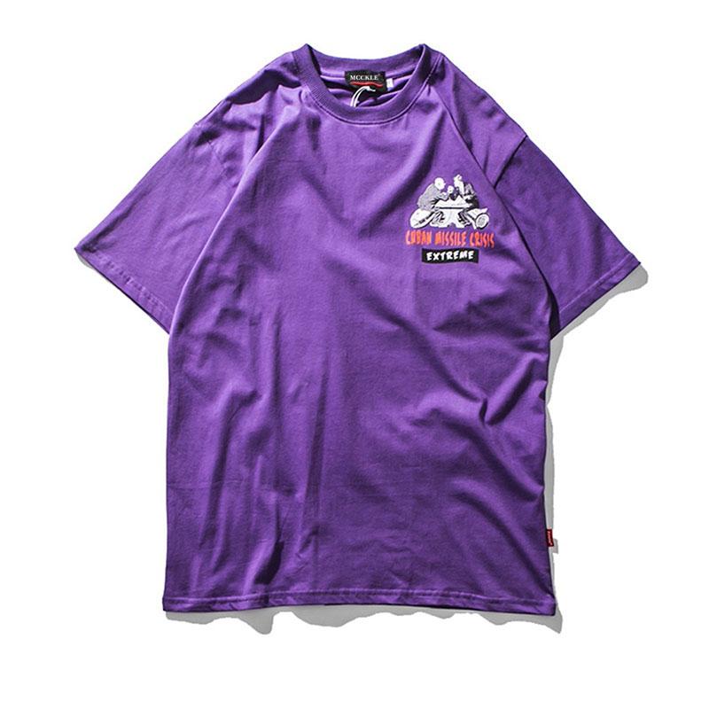8c62d9616 MCCKLE nuevo diseño de moda hip hop calle crisis de misiles raytheon  Júpiter cuba EE UU Camiseta de manga corta para hombres y los niños