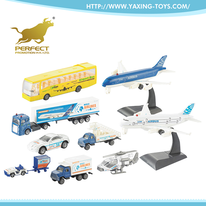 Most wanted items children 1:87 metal plane die cast mini truck toy for sale