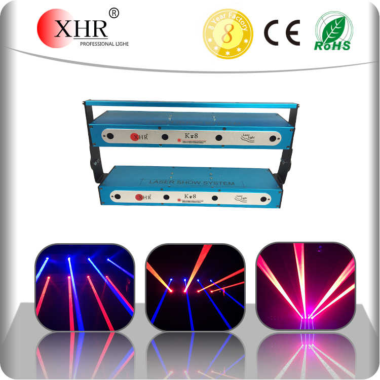 Double Row or Single Array Laser Beam Bar,Red638nm Blue445nm DMX Laser Light