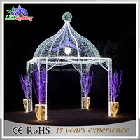 3d tent Outdoor christmas decorations rope motif lights