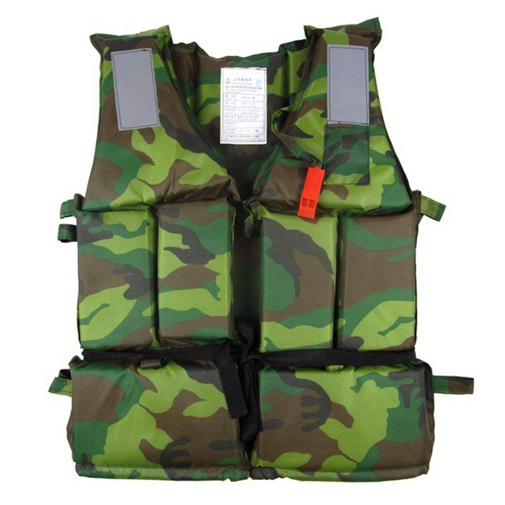 EBRICKON Adult Life Jacket Professional Fishing Camouflage Clothing Swimming Rafting Surfing For Flood Control Clothes Vest Thick